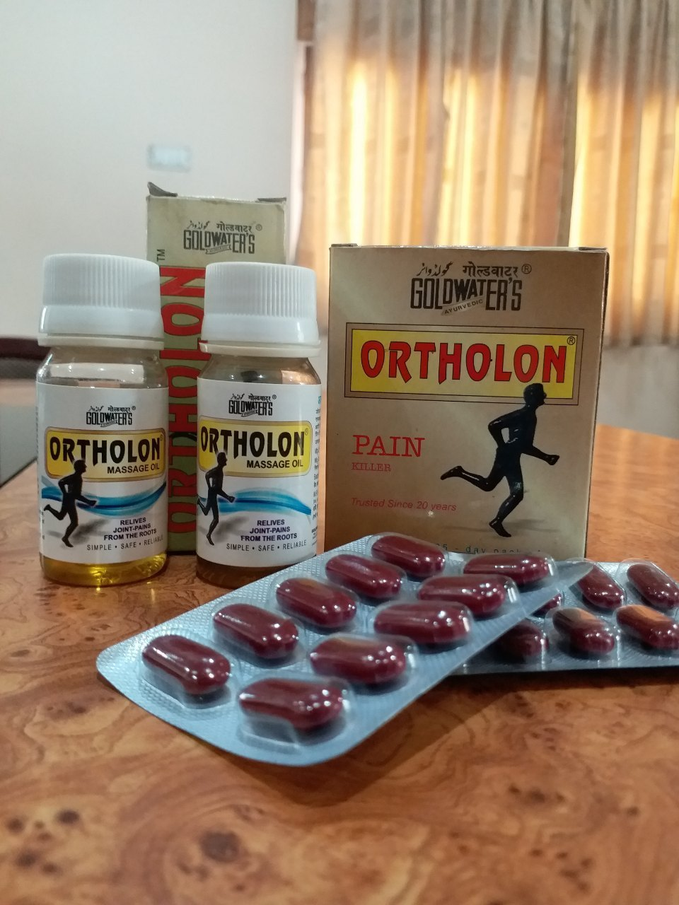 Ayurvedic ORTHOLON Tablet and Oil Joint and Muscular Pains